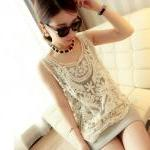 Cute Lace Crochet Vest