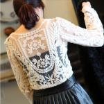 Cute Lace Long Sleeved T-..