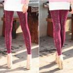 Velvet Leggings Pants Tig..