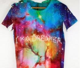 Rainbow color Galaxy T-shirt