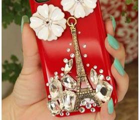 Red iphone 4 case tower bling iphone 4s case