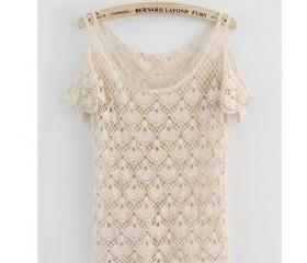 2013 Fashion Crochet Shirt Tops