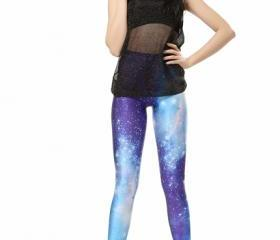 Blue Space Galaxy Leggings Pants