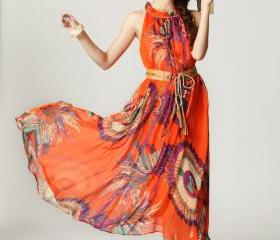 2013 Summer Maxi Dress Flower Print Style