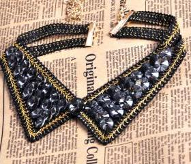 Bling Punk Collar Choker Necklace
