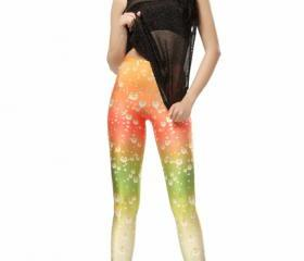 Rainbow Print Leggings Pants