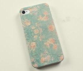 Mint Floral iPhone 4 Case