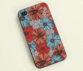 Vintage Daisy Print iPhone 4 Case