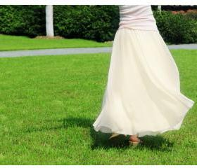 Beige Stylish Chiffon Long Maxi Skirt