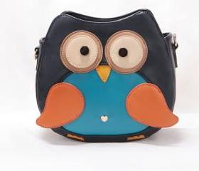 Womens PU Leather Cute Fox Vintage Owl Messenger Shoulder Bag Cross Body Handbag