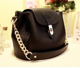 Simple Version Women PU leather Handbag Tote Shoulder Bag Purse Handle Satchel